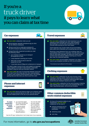 Truck Drivers - Tax Time Claims - Jorgensen Accoutnants